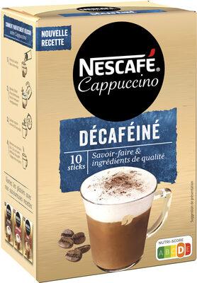 NESCAFE Cappuccino Décaféiné, Café soluble, Boîte de 10 sticks (12,5g chacun) - Product - fr