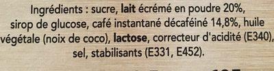 NESCAFE Cappuccino Décaféiné, Café soluble, Boîte de 10 sticks (12,5g chacun) - Ingrediënten - fr