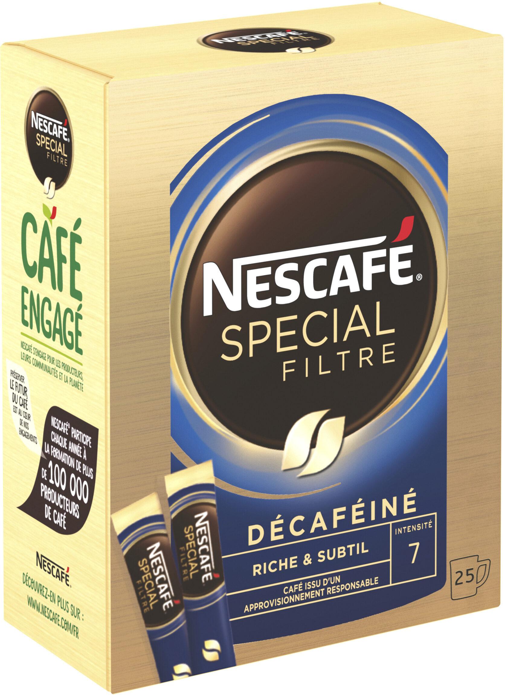 NESCAFE SPECIAL FILTRE Décaféiné, Café Soluble, Boîte de 25 Sticks - Prodotto - fr