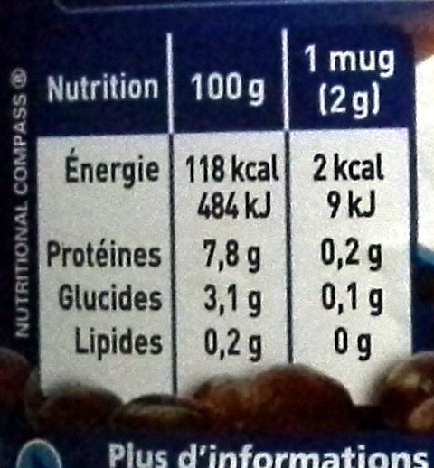 Nescafe Selection Décaféiné et corsé - Informations nutritionnelles - fr