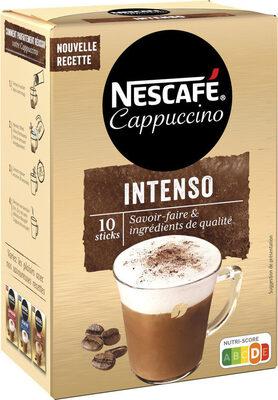 NESCAFE Cappuccino Intenso, Café soluble, Boîte de 10 sticks (12,5g chacun) - Prodotto - fr