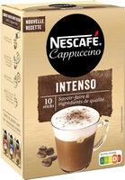 NESCAFE Cappuccino Intenso, Café soluble, Boîte de 10 sticks (12,5g chacun) - Produit - fr