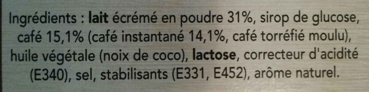NESCAFE Cappuccino Intenso, Café soluble, Boîte de 10 sticks (12,5g chacun) - Ingredienti - fr