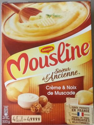 Purée Mousline Saveur à l'ancienne (creme et noix de muscade) - Product - fr