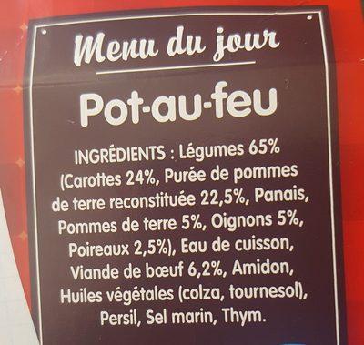 P'tite recette Pot au feu - Ingrédients