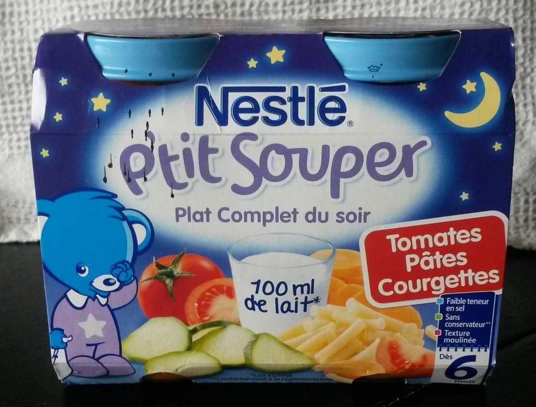 P'tit souper tomates pâtes courgettes - Product