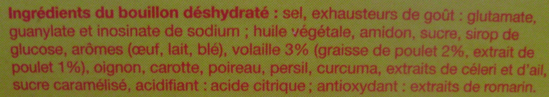 Bouillon Kub Volaille - Ingredients