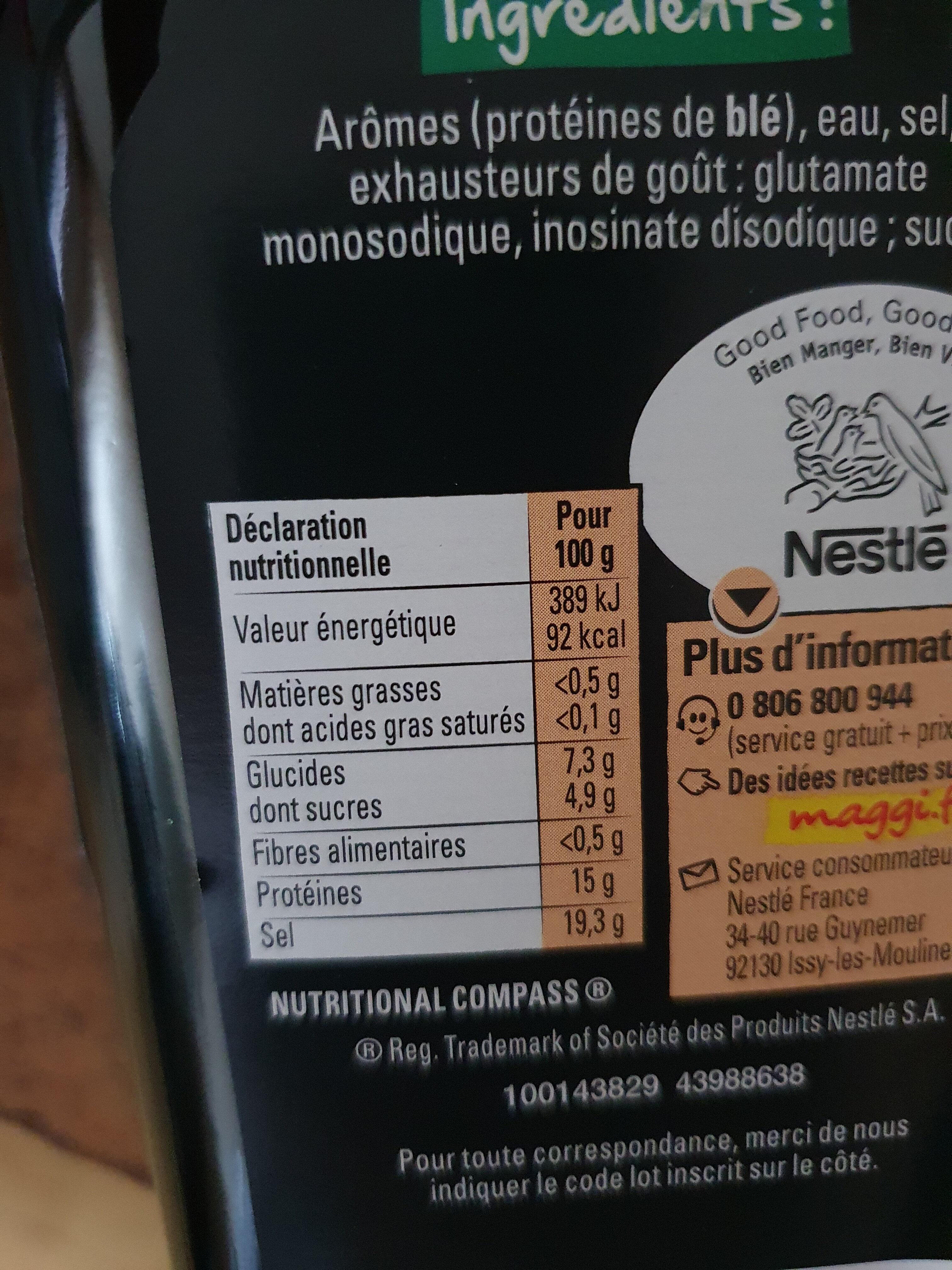Arôme - Informazioni nutrizionali - fr