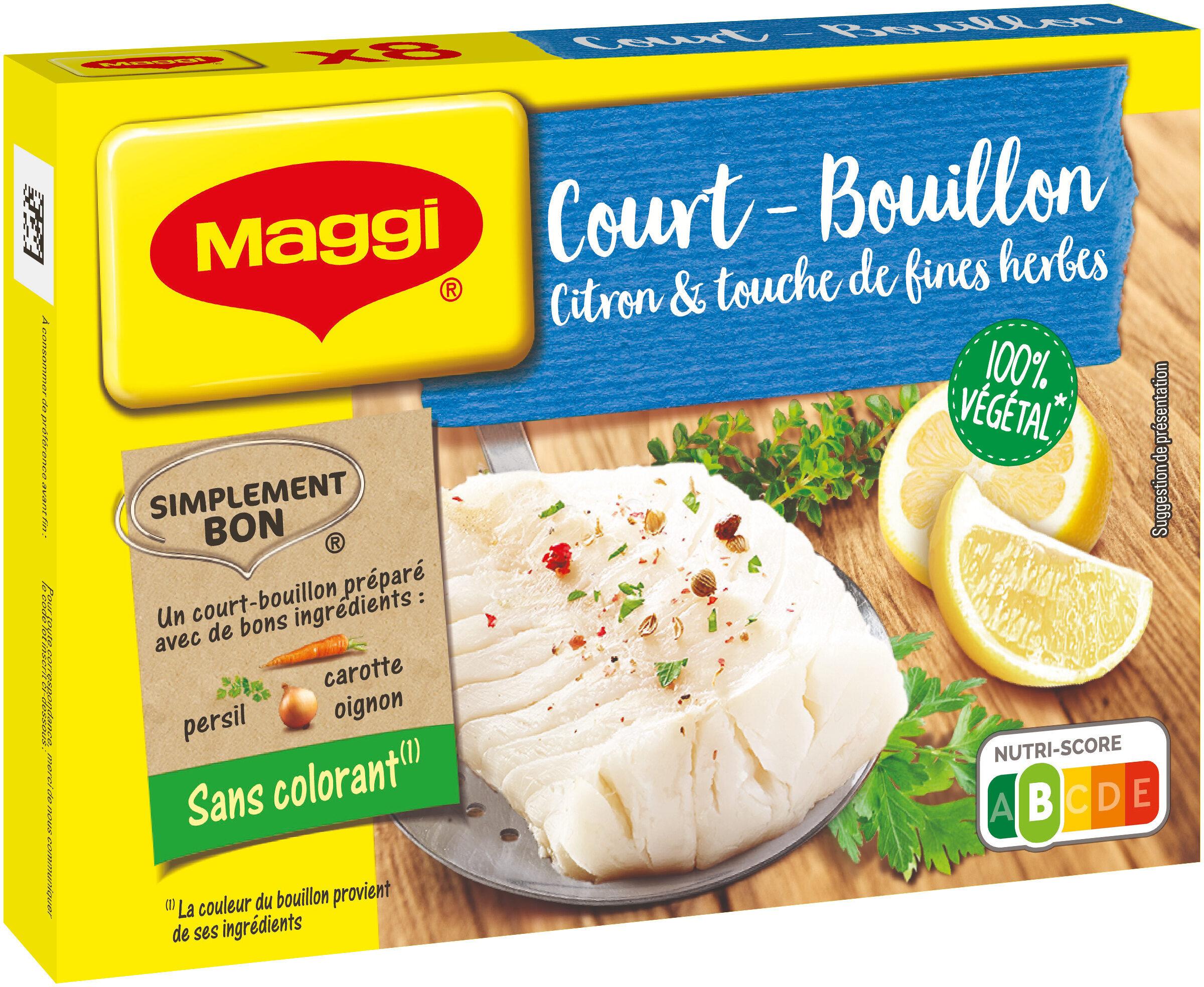 MAGGI Court Bouillon Citron et Fines Herbes 8 tablettes, 90g - Produit - fr