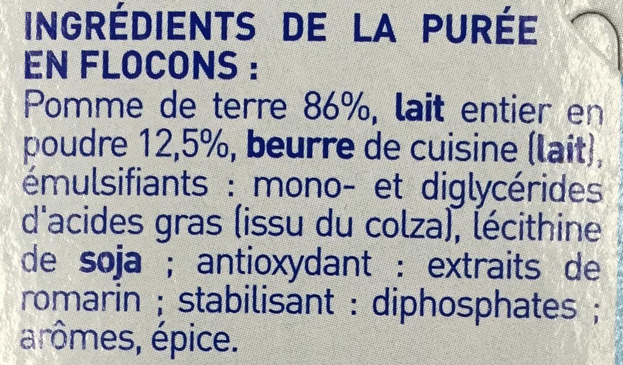 Mousline Tendresse de Lait - Ingrediënten - fr