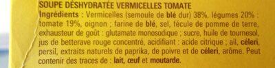 Maggi soupe de tomate aux vermicelles - Ingrediënten - fr