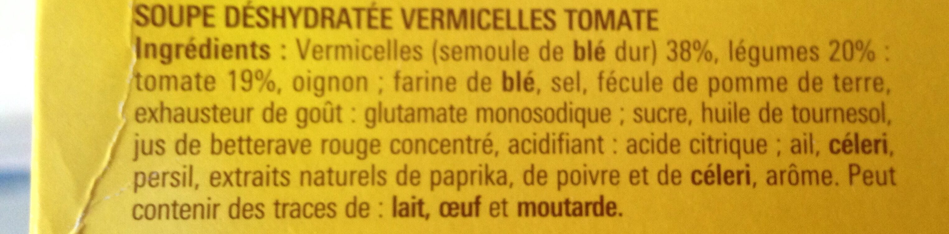 Maggi soupe de tomate aux vermicelles - Ingrediënten