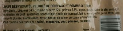 Velouté de Poireaux Pommes de Terre - Ingrédients