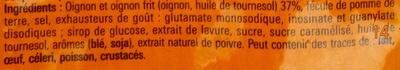 Soupe à l'oignon Saveur à l'ancienne - Ingrediënten