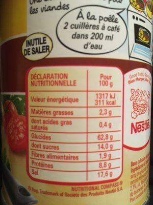 Fond De Veau - Informations nutritionnelles - fr