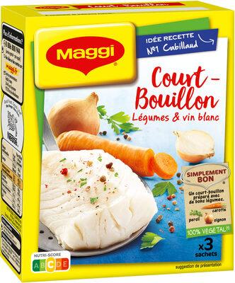 Court-Bouillon MAGGI Légumes Vin Blanc - 3x50g - Produit - fr