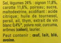 Court-Bouillon légumes & vin blanc - Ingrédients - fr