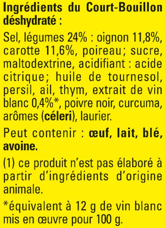 Court-Bouillon MAGGI Légumes Vin Blanc - 3x50g - Ingrédients - fr