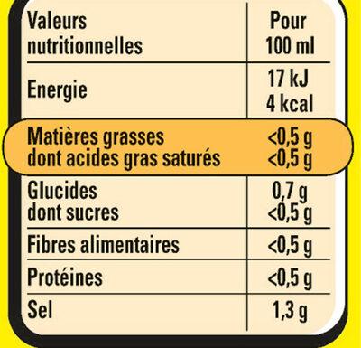 Court-Bouillon MAGGI Légumes Vin Blanc - 3x50g - Informations nutritionnelles - fr