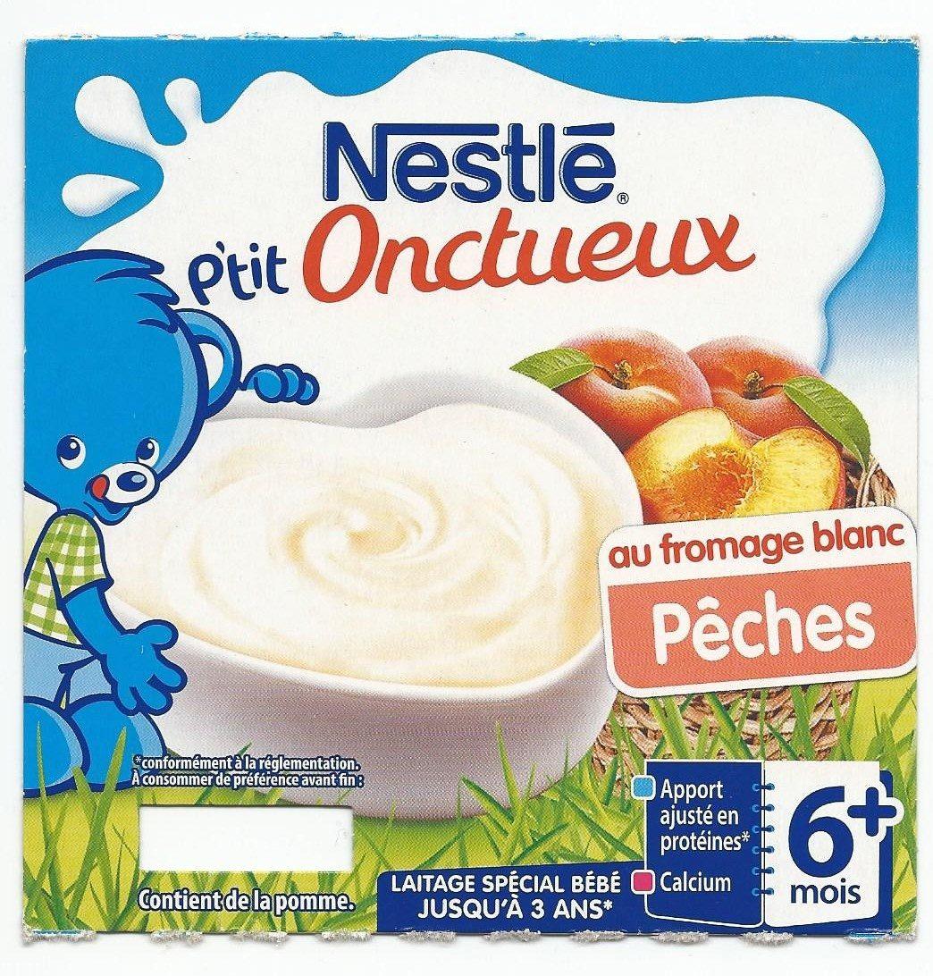 P'tit onctueux au fromage blanc pêches - Produit - fr