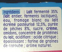 P'tit onctueux au fromage blanc pêches - Ingredienti - fr