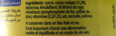 Poudre Instantannée Nesquik - Ingredients