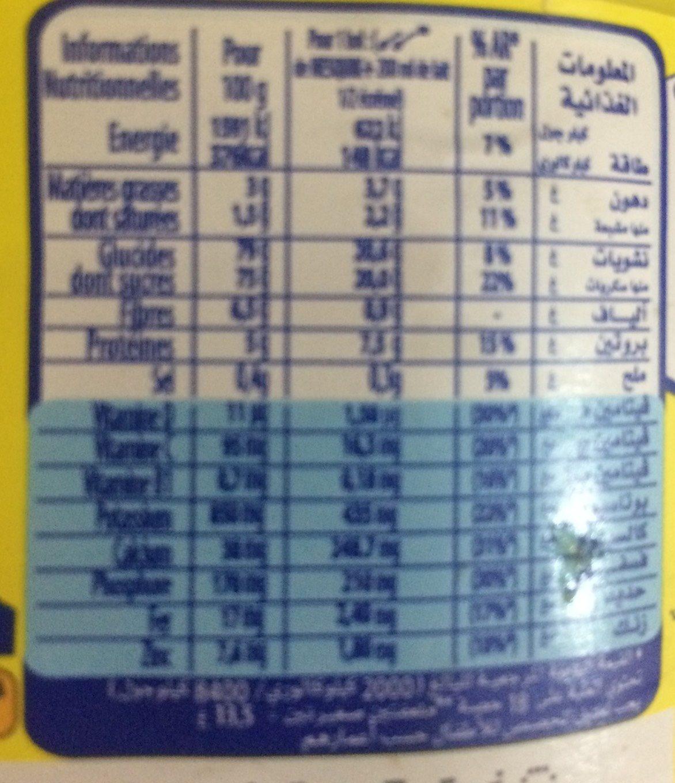 Poudre Instantannée Nesquik - Nutrition facts