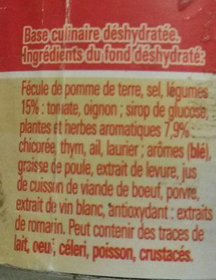 Fond Pour Rôtis - Ingredients
