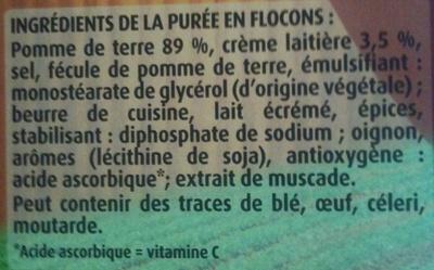 Mousline - Saveur à l'Ancienne - Crème & Noix de Muscade - Ingrediënten - fr