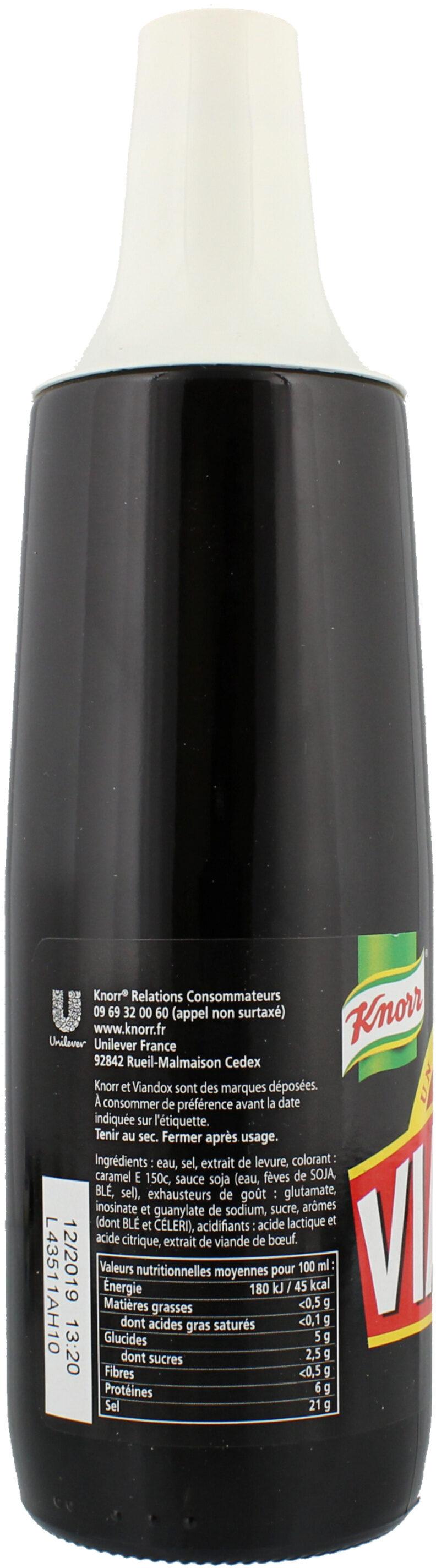 Knorr Viandox Assaisonnement Liquide 665ml - Nutrition facts