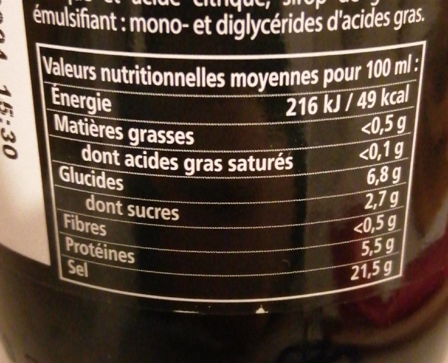 Knorr Viandox Assaisonnement Liquide 665ml - Nutrition facts - fr