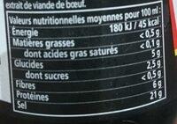 Viandox - Nutrition facts - fr