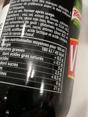 viandox - Informació nutricional