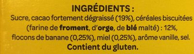 Banania 1kg - Ingredients