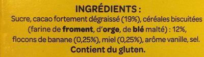 Banania 1kg - Ingredientes
