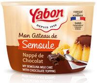 Mon gâteau de semoule nappé de chocolat - Product - fr