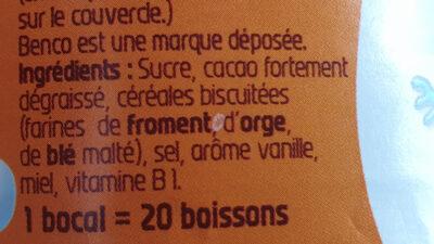 Benco original - Ingrédients - fr