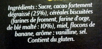 Banania Traditionnel - Ingredients