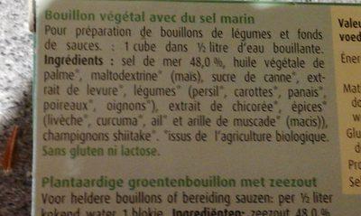 Herbamare bouillon cubes - Ingrediënten