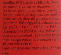 Bouillon à la chinoise - Ingredients - fr