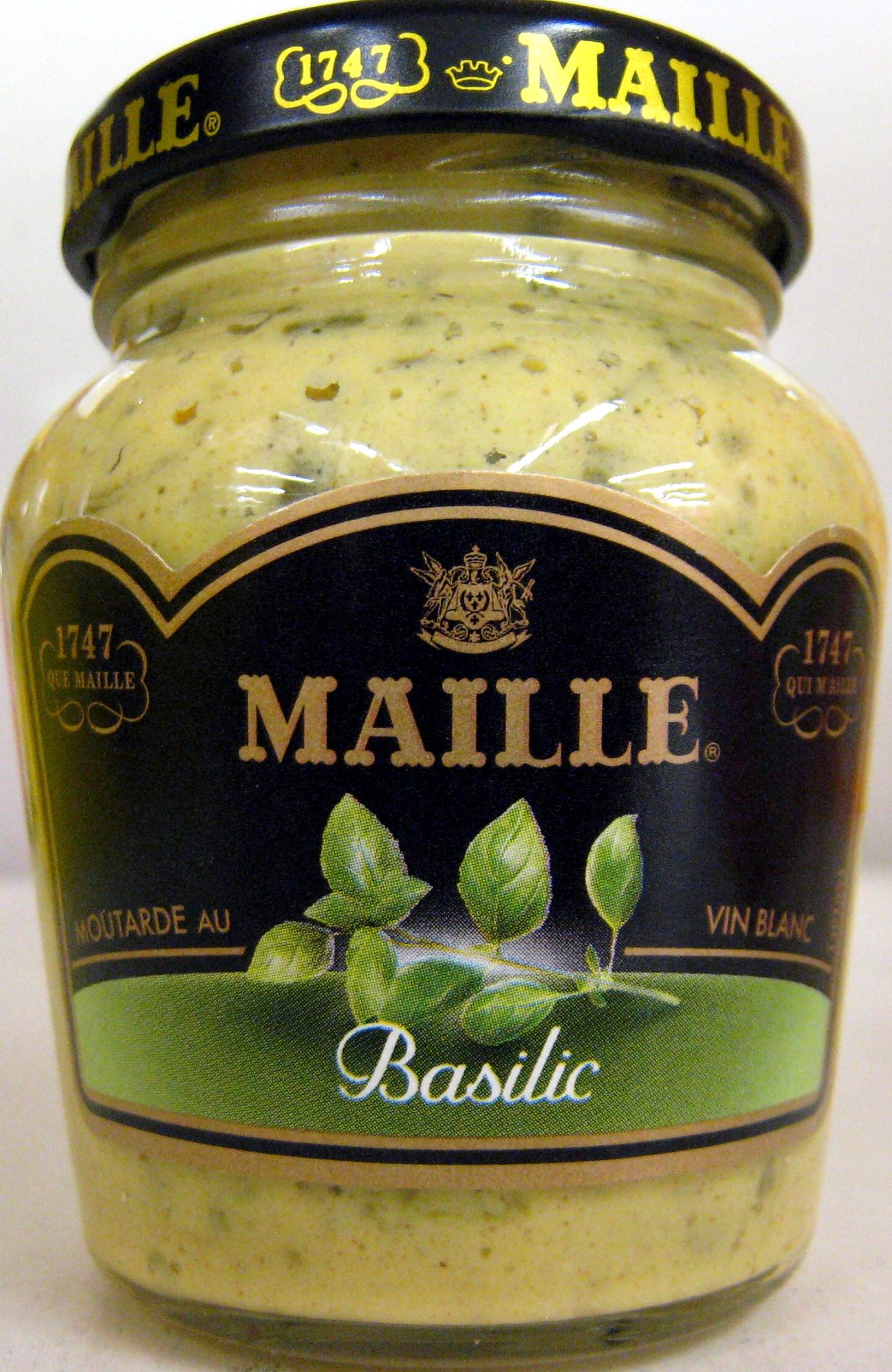 moutarde au vin blanc au basilic maille 108 g. Black Bedroom Furniture Sets. Home Design Ideas