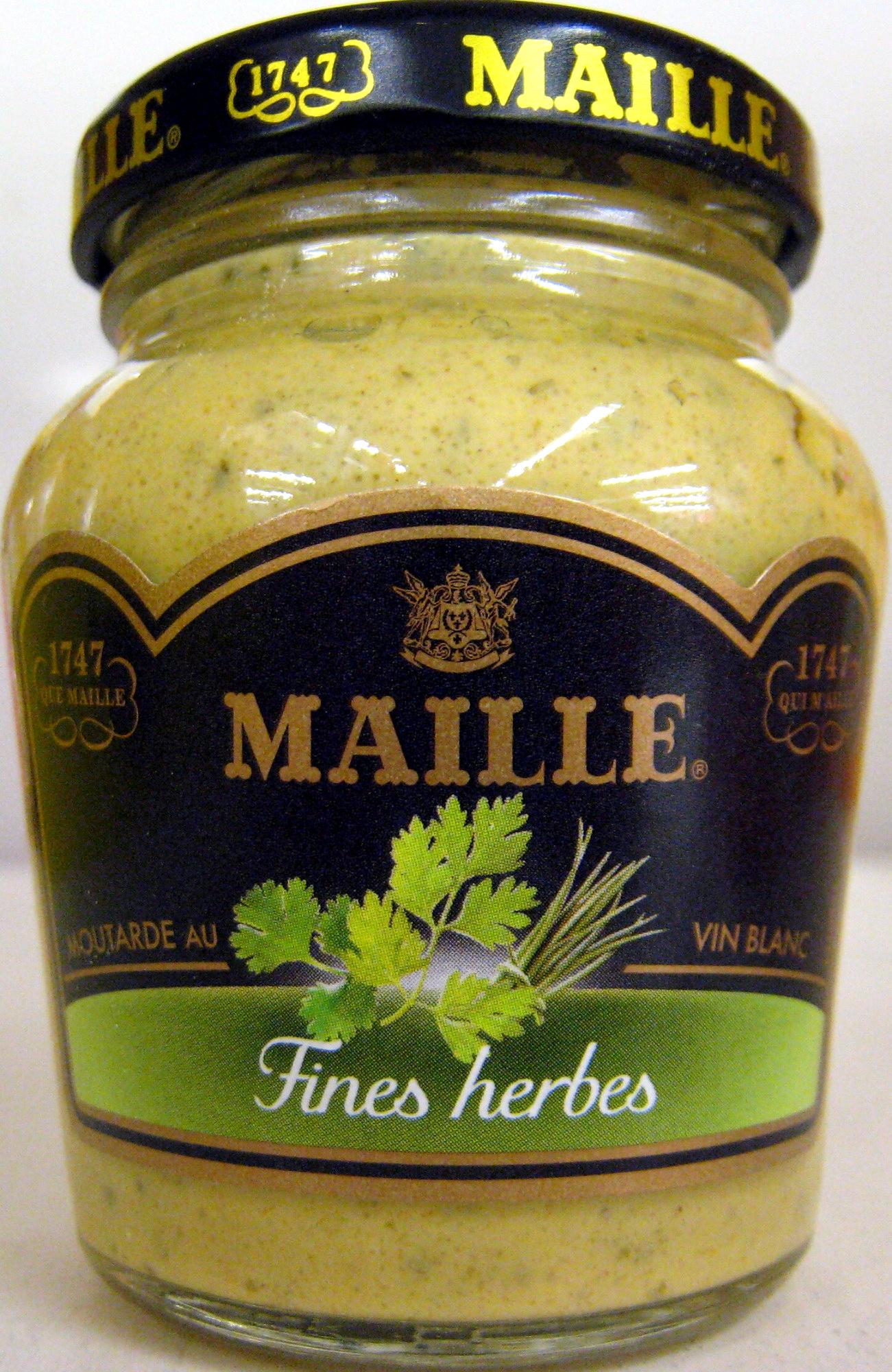 moutarde au vin blanc aux fines herbes maille 108 g. Black Bedroom Furniture Sets. Home Design Ideas