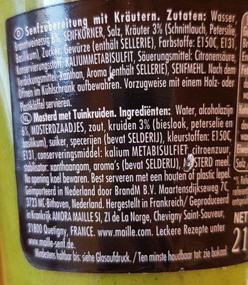 Maille Senf Mit Kräuter - Ingredients - fr