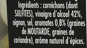 Maille Cornichons Fins Bocal - Ingredients - fr