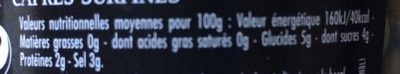 Maille Capres Surfines 85g - Informations nutritionnelles - fr