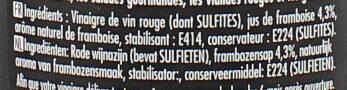 Maille Vinaigre de Vin Rouge aromatisé à la Framboise 50cl - Ingredients - fr