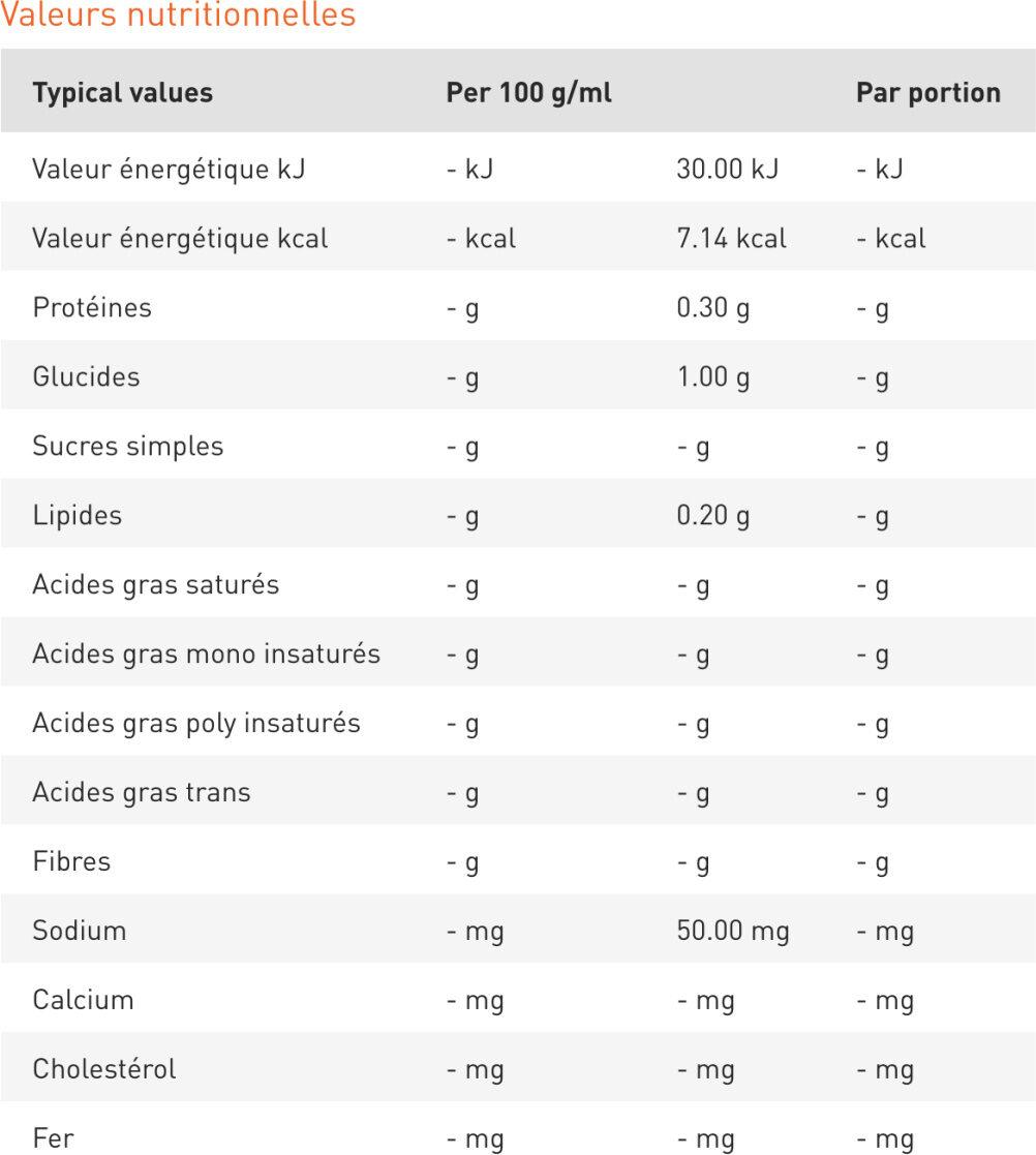 Maille Vinaigre de Vin Rouge aromatisé à la Framboise 50cl - Nutrition facts - fr