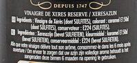 Maille Vinaigre de Xérès - Ingredients - fr