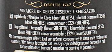 Maille Vinaigre de Xérès 50cl - Ingredients - fr