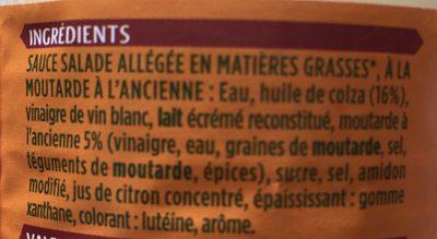 Sauce salade légère  à la moutarde à l'ancienne - Ingredienti - fr